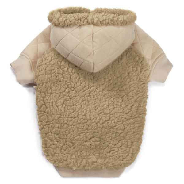 Teddy Bear Fleece Dog Hoodie