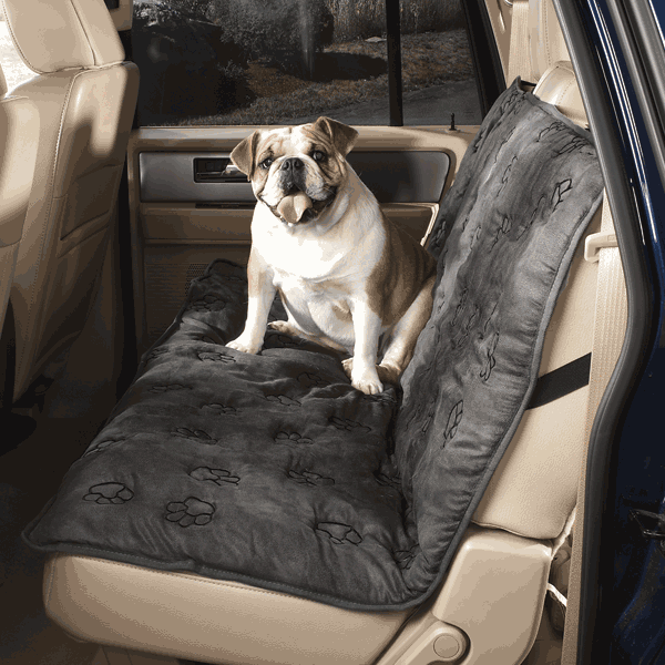 Paw Print Back Seat Cover - Oh My Dog Supply