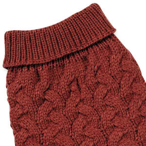 Chunky Cable Knit Dog Sweater - Oh My Dog Supply