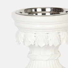 Bernini Raised Dog Bowl - White - Oh My Dog Supply