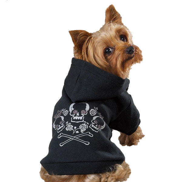 Crown And Crossbone Hooded Sweatshirts - Oh My Dog Supply