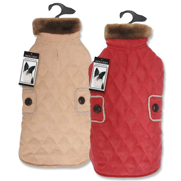 Quilted Microsuede Derby Dog Coats