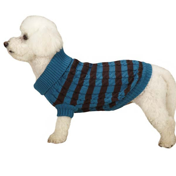 Clearance Classic Bold Cable Knit Dog Sweater - Oh My Dog Supply