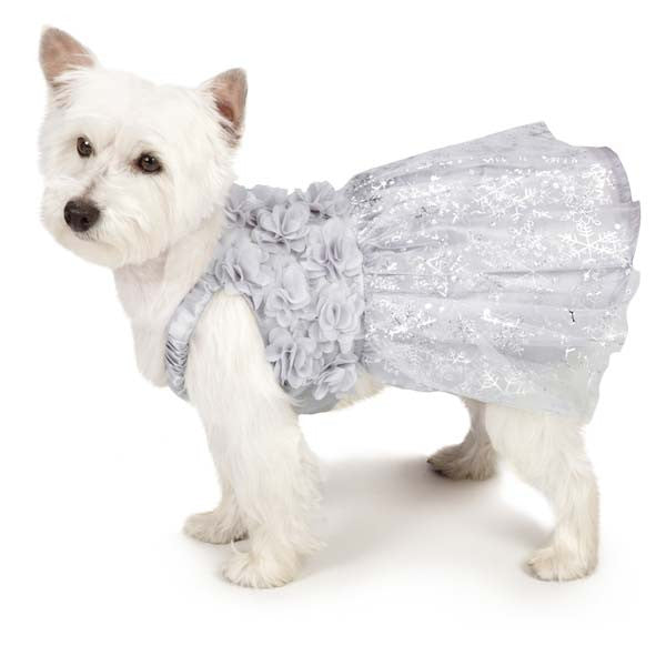 Glittery Snowflakes Dog Dress - Oh My Dog Supply