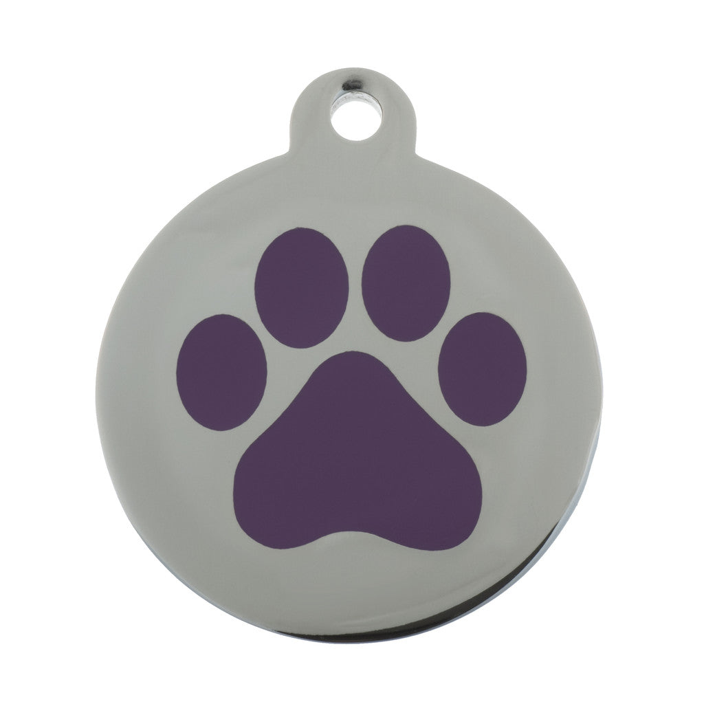 Paw Print Pet Tag - Oh My Dog Supply