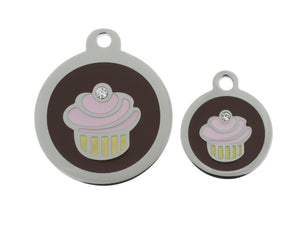 Cupcake Pet Tag - Oh My Dog Supply