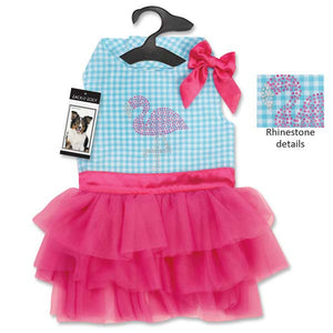 Sparkling Flamingo Dog Dresses - Oh My Dog Supply