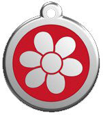 Pop Flower Pet ID Tag