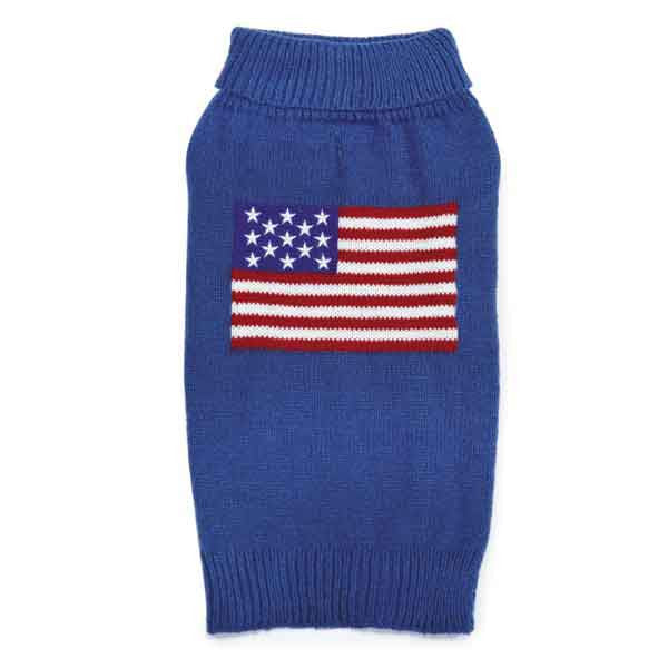 Patriotic Pup Sweater for Dogs