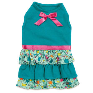 Sea and Sun Ruffle Dress with SPF 40