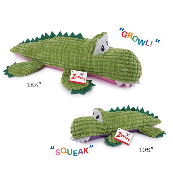 Squeaks McGrowl the Cranky Alligator - Oh My Dog Supply