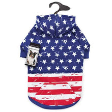 Distressed Stars and Stripes Dog Hoodie - Oh My Dog Supply