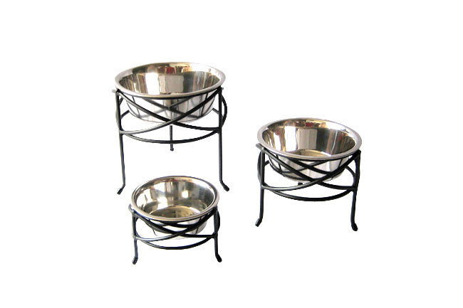 Raised Single Dog Bowl Mesh Feeder
