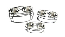Double Dog Bowl Oval Cross Feeder - Oh My Dog Supply