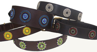Geometric Tribal Dog Collar - Oh My Dog Supply