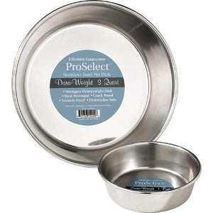 Stainless Steel Dura-Weight Dishes - Oh My Dog Supply