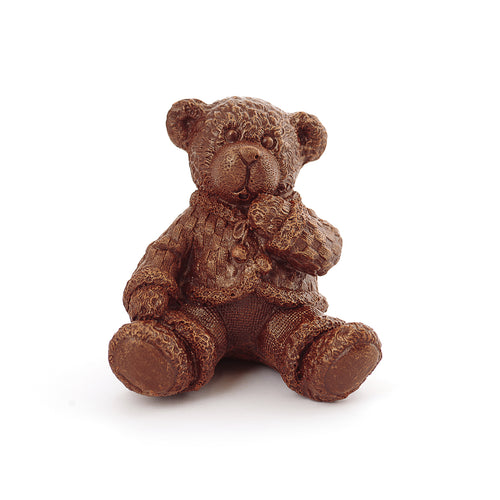 Boy Teddy Bear Chocolate Figure New York