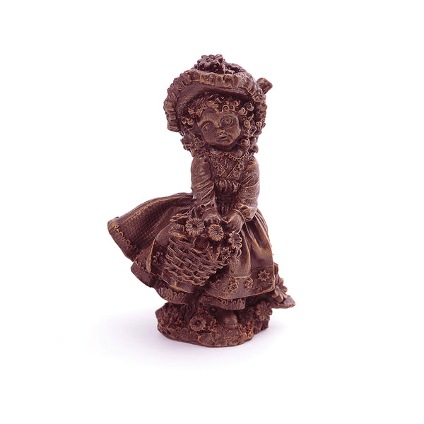 Doll With Basket Chocolate Figure