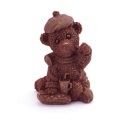 Teddy Bear With Tea Chocolate Figure