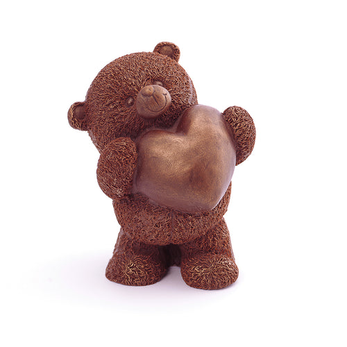 Romantic Bear With A Heart Chocolate Figure Teddy Bear