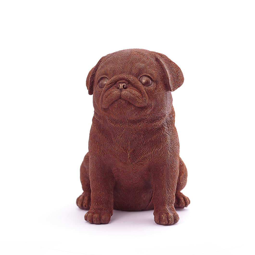 Pug Puppy Chocolate Figure Puppies