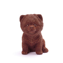 Load image into Gallery viewer, Pomeranian Puppy Chocolate Figure