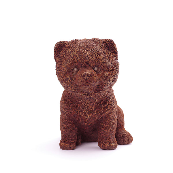 Pomeranian Puppy Chocolate Figure