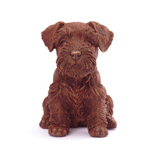 Load image into Gallery viewer, Schnauzer Puppy Chocolate Figure Puppies New York