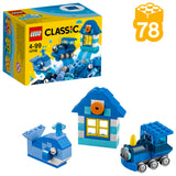 LEGO Classic Blue Creativity Building Blocks For Kids for kids (78 pcs) 10706