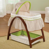 Summer  Bentwood Bassinet with Motion Bassinet (Multicolor)