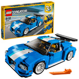 LEGO Creator 3in1  Turbo Track Racer Building Blocks For Kids 9 to 12 Years, Light Blue (664 Pcs) 31070