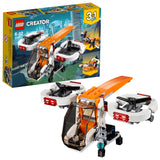 LEGO Creator 3in1 Drone Explorer Building Blocks For Kids 6 to 12 Years (109 Pcs) 31071