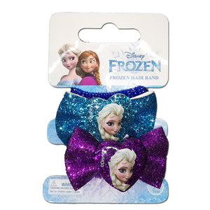 Disney Frozen Hair Accessories Set 2 Pcs Hair Band With Glitter Bowknot & Resin Charm