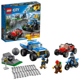 LEGO City Police Dirt Road Pursuit Building Blocks For Kids 5 to 12 Years (297 Pcs) 60172