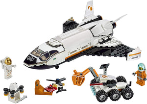 LEGO City Space Mars Research Shuttle 60226 Space Shuttle Toy Building Kit with Mars Rover and Astronaut Minifigures