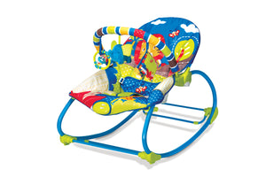 Mastela Baby Newborn to Toddler Rocker and Bouncer (Blue)