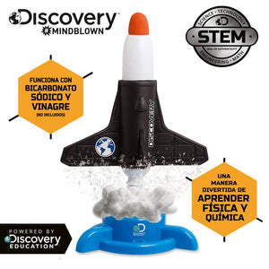 Discovery Mindblown Rocket Launcher STEM Educational Science Experiment Kit - Powered by Baking Soda & Vinegar