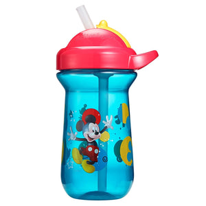 First Years Baby Mickey Mouse Flip Top Straw Cup, Royal Blue
