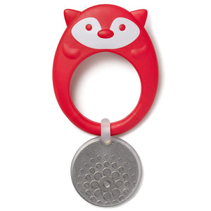 Skip Hop Stay Cool Teether, BPA-Free and Freezer Safe Silicone Coated Baby Teether, Fox
