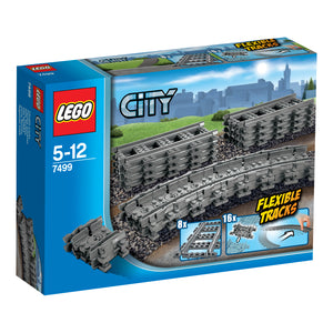 LEGO City  Flexible Train Tracks Building Blocks For Kids 5 to 12 Years ( 24 Pcs)  7499