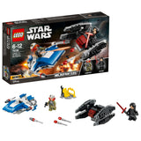 Lego A-Wing™ vs. TIE Silencer™ Microfighters