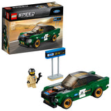 LEGO Speed Champions 1968 Ford Mustang Fastback Building Blocks Car For Kids 7 to 14 Years (183 Pcs) 75884