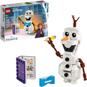 LEGO Disney Frozen II Olaf 41169 Olaf Snowman Figure Building Toy Christmas Gift Kit (122 pieces)