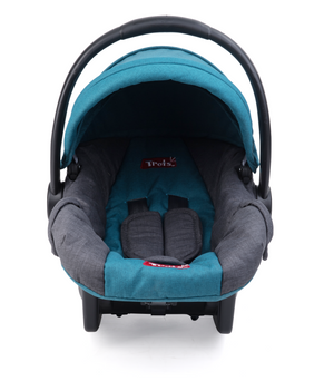 Trots Infant Carrier Baby Car Seat & Carry Cot with Canopy, 0 to 5 Months (Multicolor)
