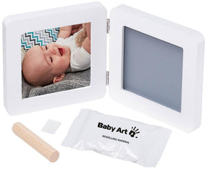 Baby Art Print Frame, White/Gray