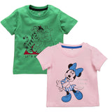 Disney Minnie Baby Girls Tshirt Winnie The Pooh Baby Girls Tshirt (Pack Of 2)