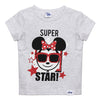 Disney Minnie Girls Tshirt Super Star