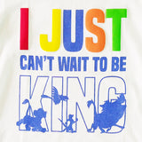Lion King Boys Tshirt I Just Can't Wait To Be King