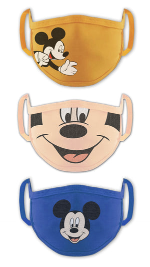 Disney Mickey Boys Face Mask Anti Pollution Dust Protective Face Mask For Kids Multicolor (Pack Of 3)