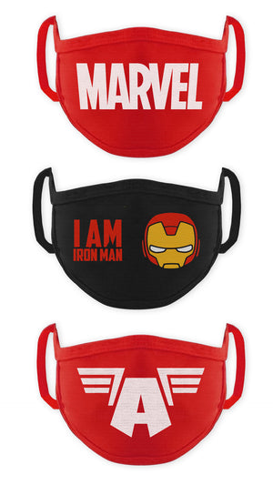 Marvel Avengers Boys Face Mask Anti Pollution Dust Protective Face Mask For Kids Multicolor (Pack Of 3)